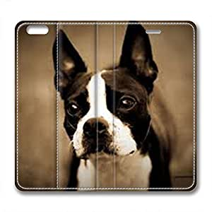 iCustomonline Boston Terrier Fashionable PU Leather Case for iPhone 6( 4.7 inch)