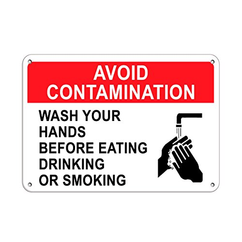 Wash Your Hands Before Eating Avoid Contamination Aluminum