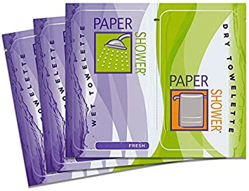 Paper Shower-Fresh, 40 Body Wipe Packs A Wet And Dry Towel In Each Pack Per Order