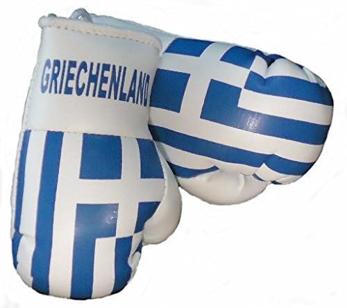 Sportfanshop24 Mini Boxhandschuhe Griechenland 1 Paar 2 Stück Miniboxhandschuhe Z B Für Auto Innenspiegel Auto