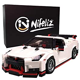 Nifeliz Mini Sports Car GTRS MOC Building Blocks and Construction Toy, Adult Collectible Model Cars Set to Build, 1:14 Scale Race Car Model (1024 Pcs)