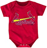 MLB St. Louis Cardinals Boys Infant Yadier Molina The Rookie Name and Number Jersey Onesie, Athletic Red, 24 Months