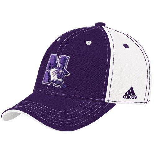 adidas Northwestern Wildcats Youth Purple-White Colorblocked Adjustable Hat