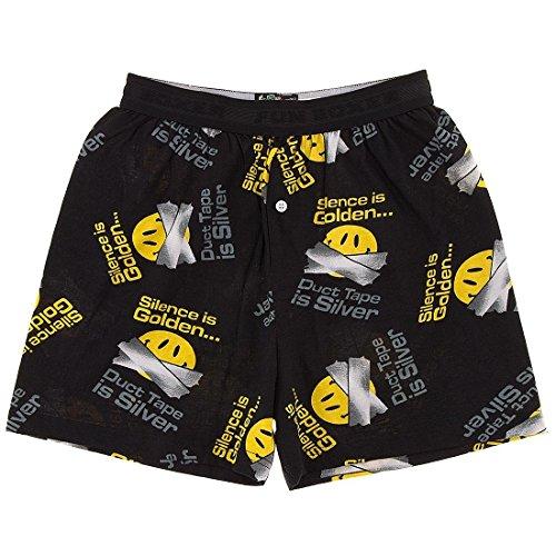 Fun Boxer Silence is Golden Boxer Shorts for Men (Face Boxer Shorts)