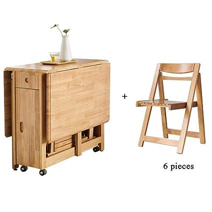 mesa comedor plegable con sillas