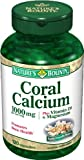 Nature's Bounty Coral Calcium Plus Vitamin D and Magnesium, 1000mg, 120 Capsules (Pack of 2)