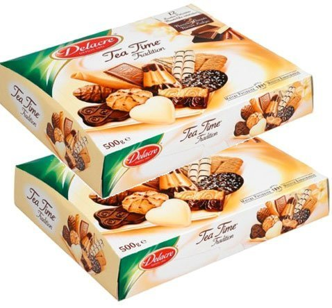 Delacre Biscuits (Delacre Tea Time Assorted Cookies - 500 grams - x 2 boxes)