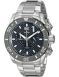 Men's 10020 3M NBU Chronoffshore Analog Display Swiss Quartz Silver Watch