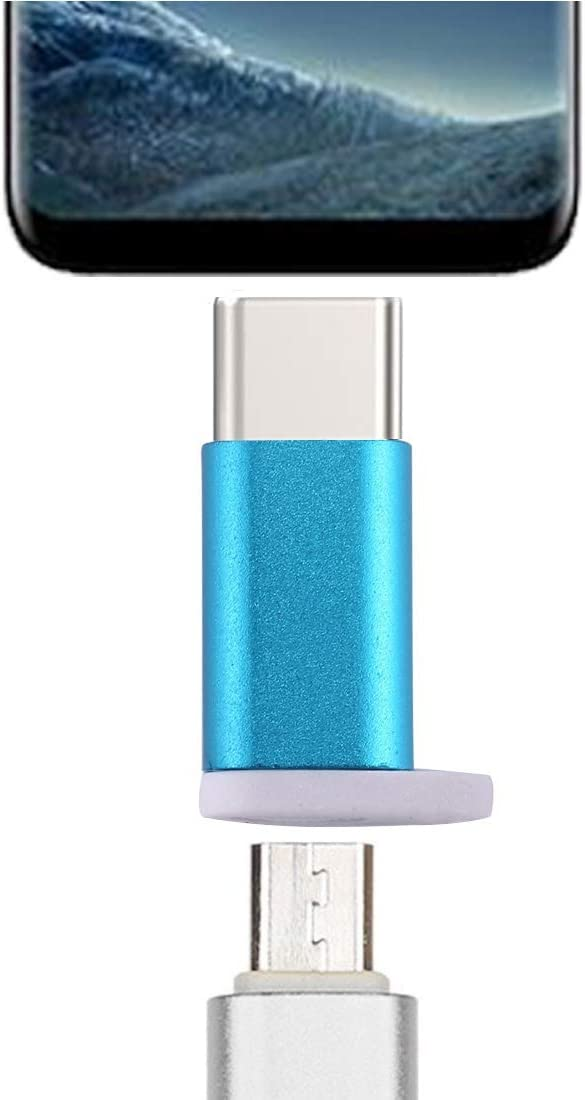 Buen tipo C macho a Micro USB 2.0 adaptador convertidor de la hembra, for la galaxia S8 y S8 + / LG G6 / Huawei P10 y P10 Plus / OnePlus 5 / Xiaomi MI6 & Max 2 / y otros teléfonos inteligentes (Ne