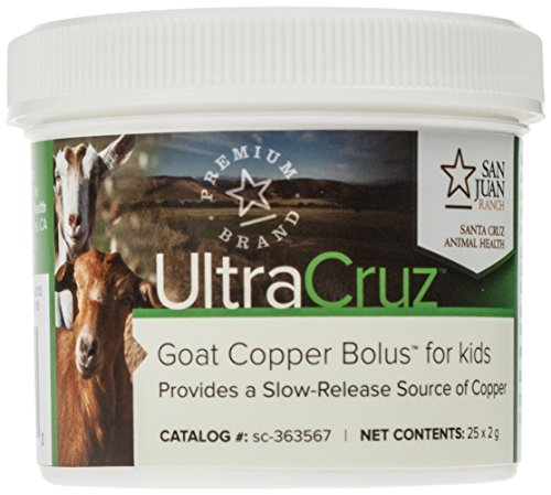UltraCruz Goat Copper Bolus Supplement for kid goats, 25 count (2 grams each)