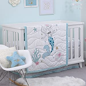 51DOwGv5XyL._SS300_ Mermaid Crib Bedding and Mermaid Nursery Bedding Sets