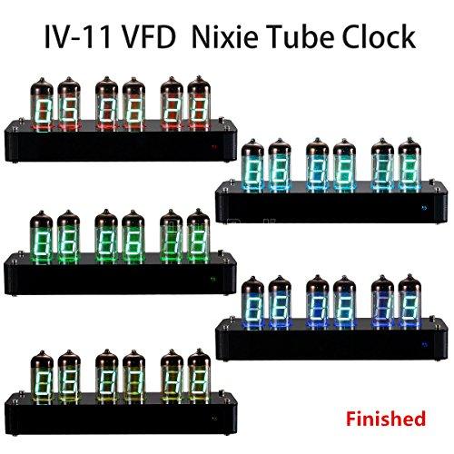 Douk Audio Nobsound IV-11 Vintage VFD Nixie Tube Acrylic Old School Vacuum Tube Alarm Clock with Remote Finished Nice Gifts (Finished)
