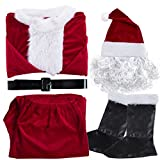 Christmas Santa Claus Costumes Plush Boys Pub Flannel Crawl Santa Suit Xmas Suit