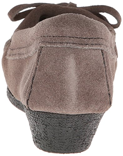 Minnetonka Kilty Wedge - Mocasines Mujer Gris