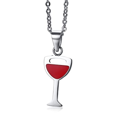 Pendentif vin rouge