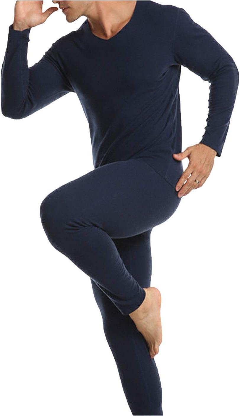 MOLLDAN Men/'s Thermal Underwear Baselayer Long Johns Tops /& Bottom Set with Fleece Lined