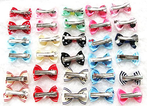 Carykon 20Pcs Dog Hair Clips Heart Sunglass Pet Hair Bows Alligator Hairpins Small Animal Hair Barrettes Pet Hair Accessories, Multicolor by Carykon (Image #6)