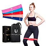 Upperlux Premium Resistance Exercise Loop Bands - Set of 5 Carry Bag - Gym Strength Training, Home Workout Physical Therapy