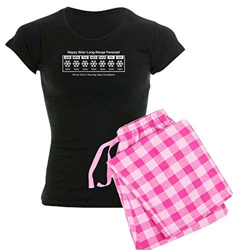 CafePress Happy Skier Forecast Womens Novelty Cotton Pajama Set, Comfortable PJ Sleepwear