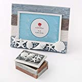 Beach Sea Ocean Shell Themed Picture Frame With Trinket Jewelry Change Box ~ Photo Frame ~ 6x4 ~ Horizontal ~ Completes Beach Themed Décor ~ Perfect Decorations for The Laid Back Life