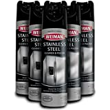 Weiman Stainless Steel Cleaner and Polish - 17 Ounce [6 Pack] - Non Toxic Protects Appliances from Fingerprints and Leaves a Streak-Free Shine for Refrigerator Dishwasher Oven Grill etc