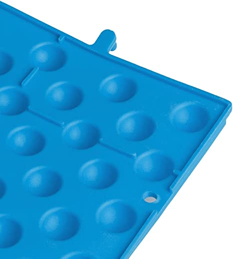 Feamos Foot Massage Pad Shiatsu Mat for Blood Circulation Pack of 4 Blue