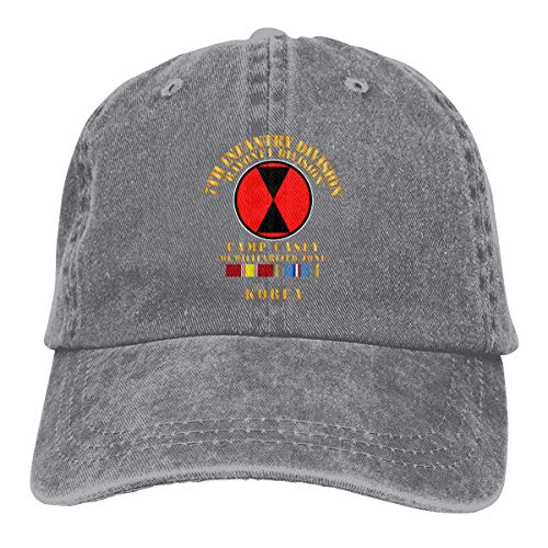 7th Infantry Division - Korea - Cp Casey W SVC Summer Cool Heat Shield Unisex Adult Cowboy Hat Gray ()
