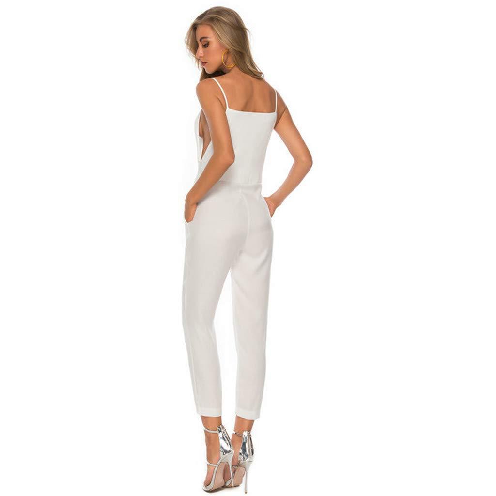 Holywin - Mono de Verano para Mujer Blanco L: Amazon.es: Ropa y ...