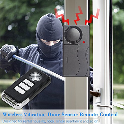 Mengshen Vibration Sensor Alarm with Remote Control for Door Window Bike Motorcycle MS-Z07 by Mengshen (Image #1)