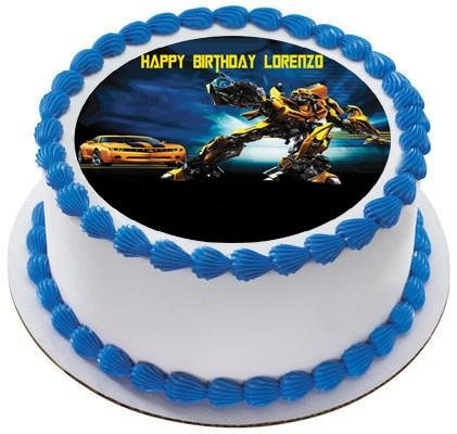 Image Unavailable Not Available For Color Transformers 2 Edible Birthday Cake OR Cupcake Topper
