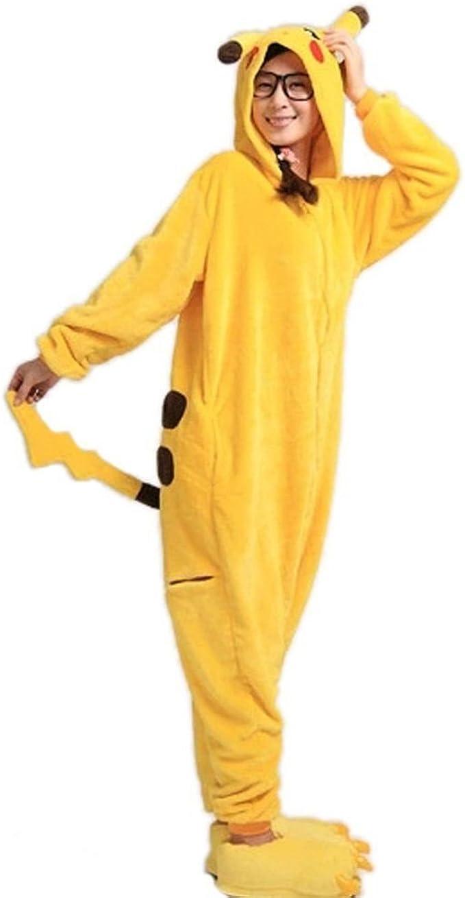 Disfraz de Pikachu Wanziee, sudadera con capucha tipo Cosplay ...