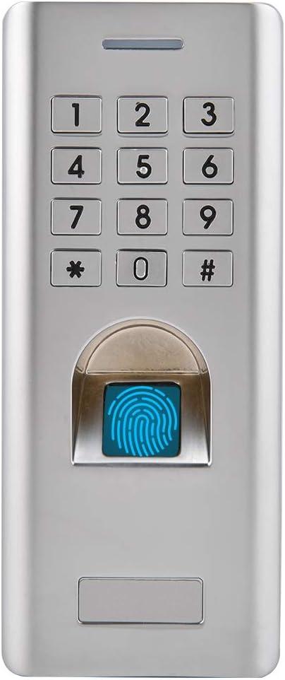 Fingerprint Access Control Waterproof Metal Fingerprint Code Lock Access Control Smart Access Control Keypad Access Door Opener for Home Security.