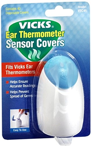 Vicks Ear Thermometer Sensor Covers VTC41 40 Each (Pack of 2) by Vicks