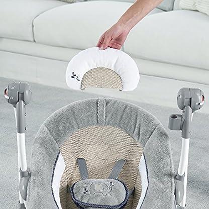 Ingenuity, Townsend 2 in 1 Babyschaukel und -sitz, zusammenklappbar, mit Vibrationen, 5 Schaukelgeschwindigkeiten, mehr als 8 Melodien und Lautstärkeregler 6
