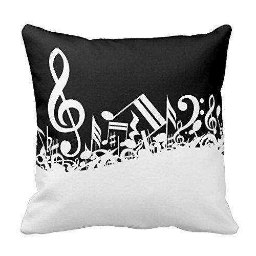 beartstore notas musicales funda para cojín de lino y ...