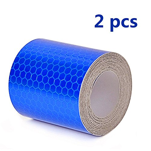 YIYATOO 3M Blue Reflective Safety Warning Conspicuity Tape Film Sticker,2'X10'(5cmx3m)2 roll