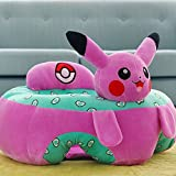 Baby Sitting Learn Plush Chair - Infant/Toddler Safe Sofa Anti-slip Home Decoration Baby Toys Cartoon Patterns 20 x 20 x 12 Inch Rosered Pikachu