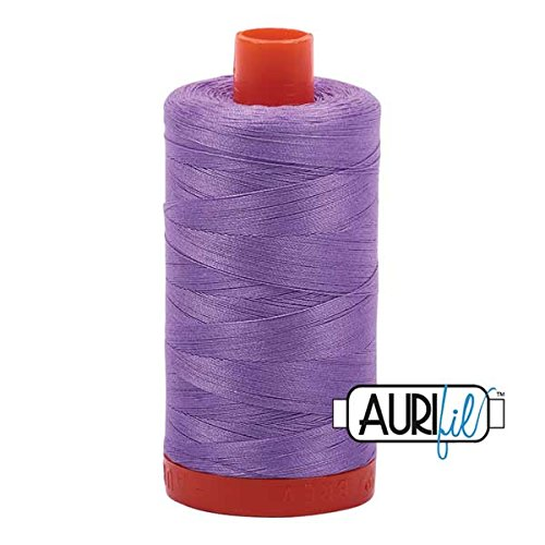 Aurifil Mako Cotton Thread Solid 50wt 1422yds Violet 50wt Cotton Machine Embroidery Thread