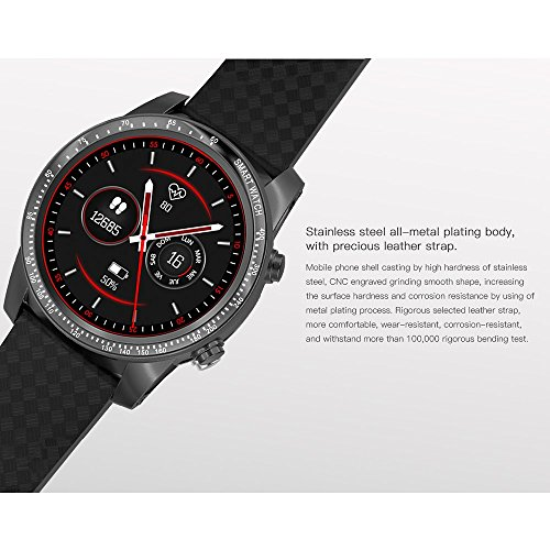 AllCall W1 Bluetooth Smart Watch Android 5.1 2GB RAM 16GB ROM 3G/2G Watch-Phone MTK6580m Quadcore Heart Rate Sport GPS Call Notification Pedometer Alarm Metal Body MP3 MP4 WiFi (Silver)