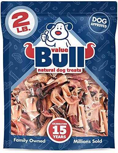 ValueBull Bully Stick Bits, Natural Dog Chew, 2 Pound – Angus Beef, Low Odor, Rawhide Alternative