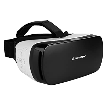 66ec89ad448f Arealer® VR SPACE Virtual Reality Glasses VR Headset 3D Movie VR Games  Supports Bluetooth 3.0