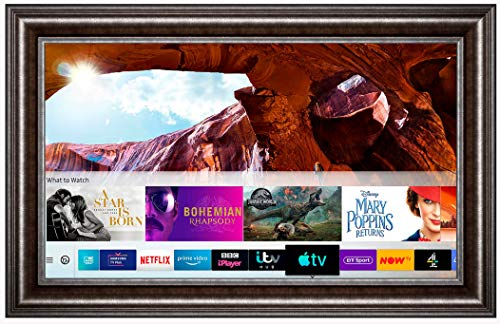 Framed Mirror TV with Samsung 8 Series 4K Ultra HD HDR Smart LED TV – Spoon Frame (43 inch, Gun Metal)