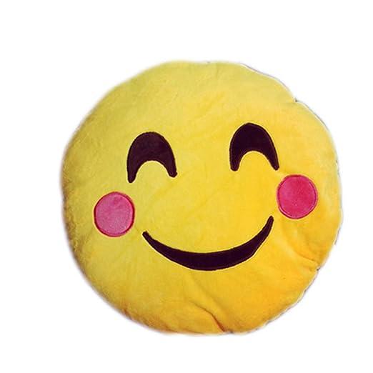 Amazon.com: Cute 35 cm Con Forma De Emoticono Amarillo Cojín ...
