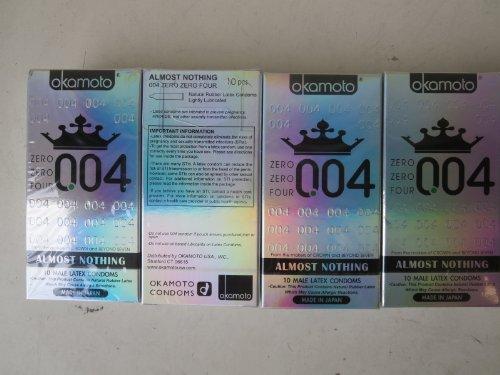 Okamoto 0.04 Zero Zero Four Condoms, 4 Boxes (40 Count) by OKAMOTO
