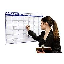 "Blank Monthly Dry Erase Wall Calendar 24""x36"""
