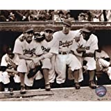 Jackie Robinson - First Day with Spider Jorgenson Pee Wee Reese Ed Stankey Photo Print (16 x 20)
