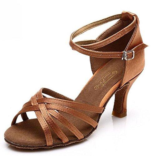 KUKI Adult Latin Tanzschuhe mit Tanzschuhen erhöht Soft Sohle Schuhe 5