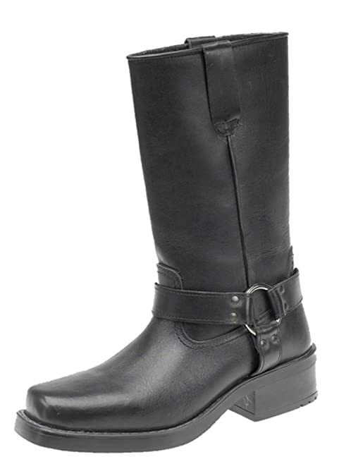 Engineer Boots Pull On Western Buckle Biker Boots Amazon Co Uk