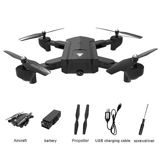 Jadpes Cuadricóptero de Control Remoto RC Drone, WiFi Plegable ...