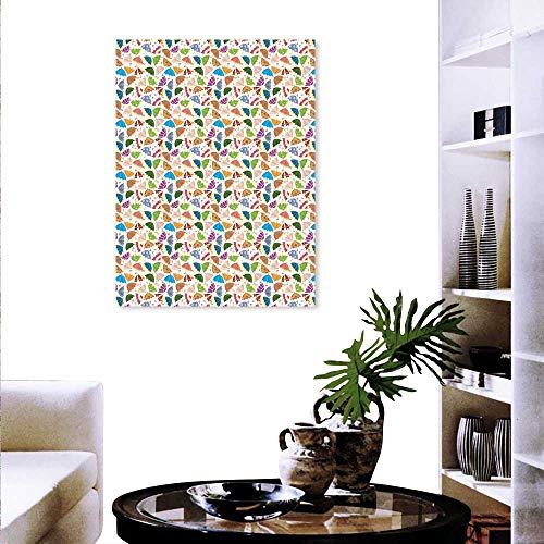 Arrow Post Bent (Anyangeight Umbrella Modern Canvas Painting Wall Art Disorderly Ornate Kids Parasols in Designs Bent Handles Artwork Wall Decor 16
